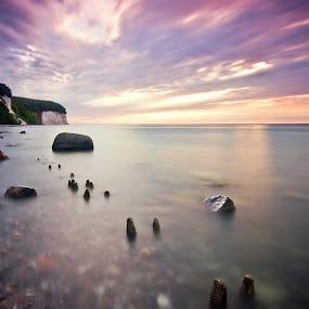 60 seconds by Kai Süselbeck - Landscapes Waterscapes ( sunset, ruegen, island )