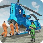 Prisoner Transport Helicopter: Free Bus Games Icon