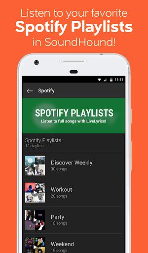 SoundHound Music Search Screenshot