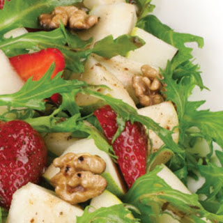 Strawberry, Pear, Mesclun And Walnut Salad.