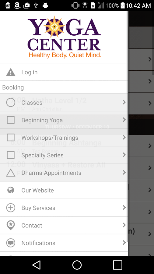 Yoga Center- screenshot