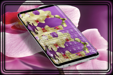 Orchid fleurs keyboard HD - náhled