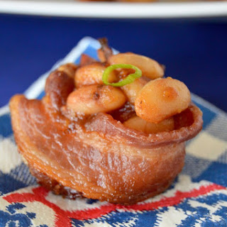 Baked Bean Bacon Cups