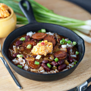 Stovetop Red Beans and Rice with Pimiento Cheese