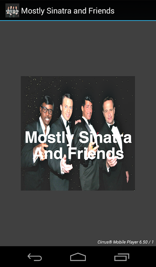 Mostly Sinatra and Friends- screenshot
