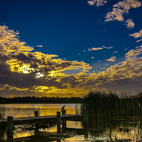 Lake Maggiore Sunset by Ken Wagner - Landscapes Sunsets & Sunrises ( cloud formations, nature, waterscape, sunset, marsh, nikon,  )
