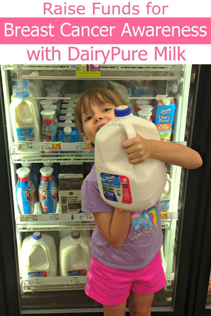 During Breast Cancer Awareness Month, purchase Dean's Dairy's DairyPure Milk and they will make a donation for each gallon purchased
