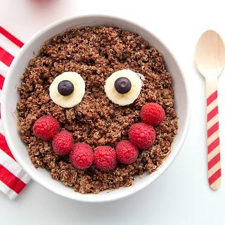 Chocolate Quinoa High Protein Breakfast Bowl