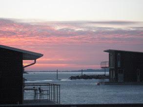 Photo: Sonnenaufgang über'm Bodden