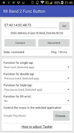 Func Button for Mi Band 2 2.4.4 screenshots 1