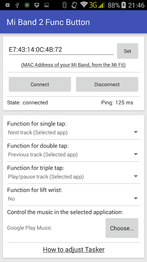Mi Band 2 Func Button- screenshot