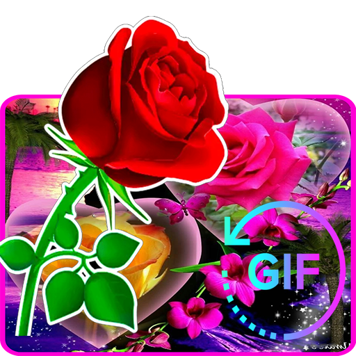 Mazzo Di Fiori Esagerato.Flowers And Roses Animated Images Gif 4k App Su Google Play