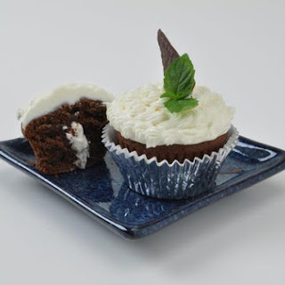 Inside Out Peppermint Patty Cupcakes