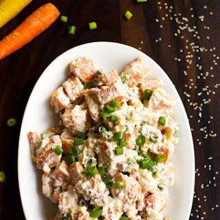 Sweet Potato Salad Recipe with Spicy Tahini Sauce Recipe