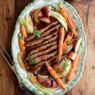 Slow Cooker Beef and Cabbage with Potatoes and Carrots.