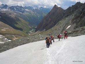 Photo: pa prelazimo na ledenjak
