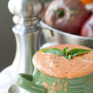 Easy Cream of Roasted Tomato Basil Soup Recipe