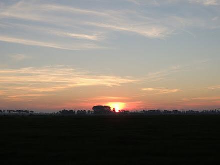 Foto: De zon komt op.