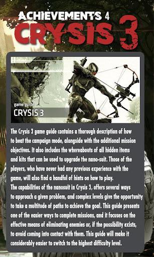 Achievements 4 Crysis 3