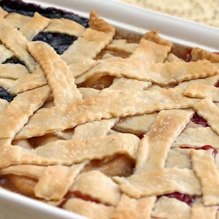 This Blueberry, Cherry & Apple Patch Pot-Pie Has Three Different Sections-Find Out How We Did It!.