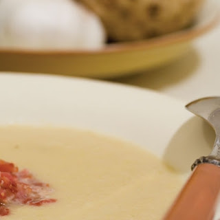 Celeriac Soup with Leeks and Bacon
