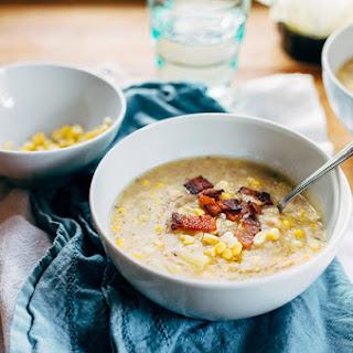 Fresh Corn Chowder with Bacon