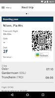 Screenshot of Norwegian Travel Assistant