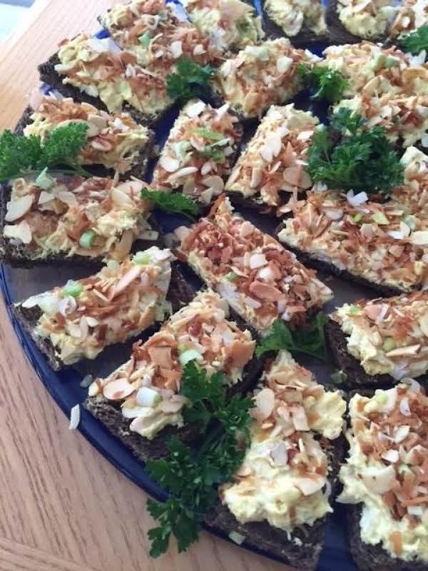 Curried Chicken Tea Sandwiches Recipe
