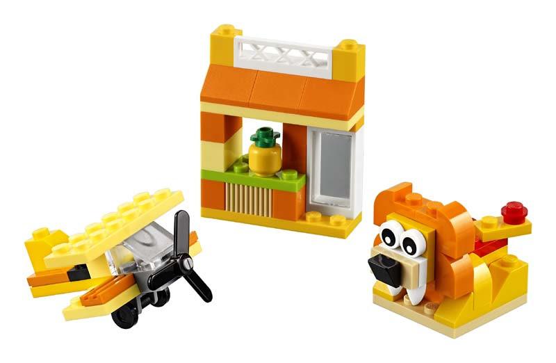 Contenido de Lego® 10709 Caja Creativa Naranja