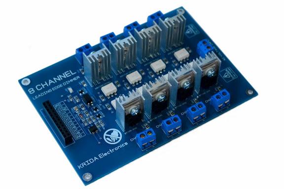 8 Channel AC Light Dimmer Module Arduino - Krida Electronics