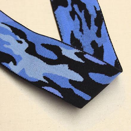 Militär Resår 38mm - blå/svart