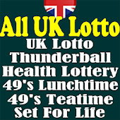 UK All Lotto, Thunderball, HealthLottery, 49's