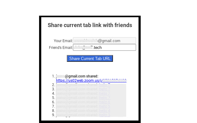 URL Share for Chrome