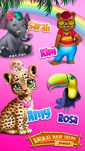 Jungle Animal Hair Salon - Styling Game for Kids android2mod screenshots 5