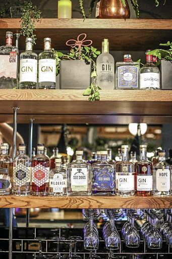 There are almost 40 gins on offer at The Secret Gin Bar