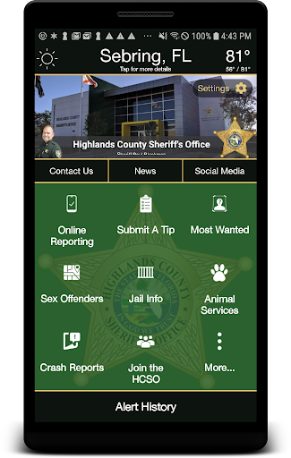 Highlands County Sheriff's Office - screenshot