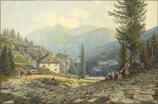 View of the Residence of Archduke Johann in Gastein Hot Springs