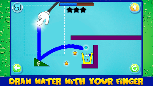 Water Draw: Unique Physics Puzzle screenshot 1