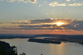 Photo: Sunset from Crown Point along the Columbia Gorge.