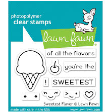 Lawn Fawn Clear Stamps 3X2 - Sweetest Flavor