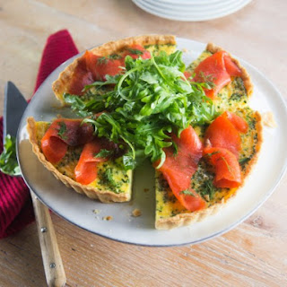 Smoked Salmon and Dill Quiche