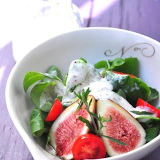 Creamy Fig Dressing with Greek Yogurt and Feta.
