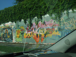 Photo: section of the UF wall of graffitti