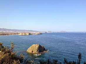 Photo: View towards Aguilas from the fort