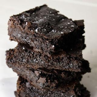 Gluten Free Brownies with Sea Salt