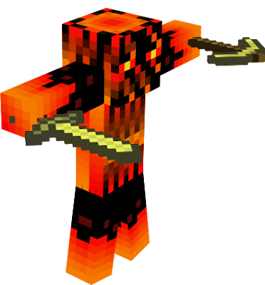 Is the twin brother of the ice enderman and he loves gold! He has the Special Power of creating Fire And Lava by himself!