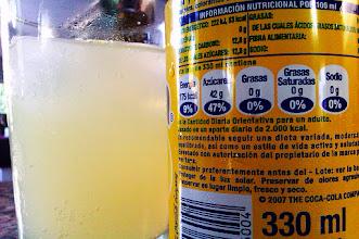 Photo: Impresionado: si bebemos 2 botes d Fanta d limón tomamos el 94% d la cantidad diaria d azúcar recomendada. Ya decía yo q me tenía enganchado :)