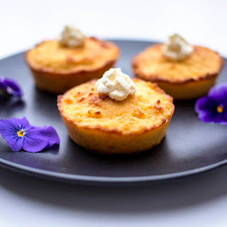 Lemon Almond Coconut Cakes With Whipped Coconut Cream.