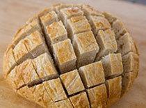 Use sharp knife to cut criss cross without cutting thru. Mix 8oz soften cream cheese...