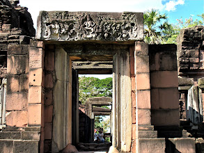 Photo: carved stone lintels above doorways, Phimai Historical Park